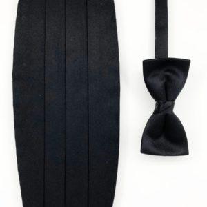 cefai black bow black cummerbund