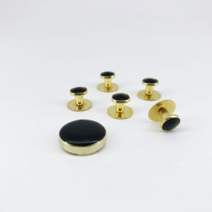 cefai cufflinks 5 black gold cover button