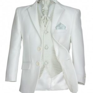 cefai Ivory Satin Communion Suit