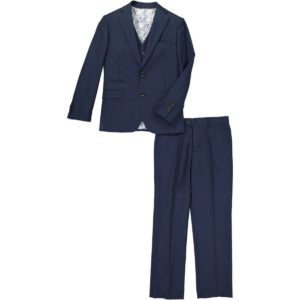 cefai Navy Blue 3pc Suit