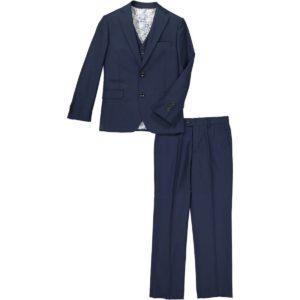 cefai Navy Blue 3pc Suit