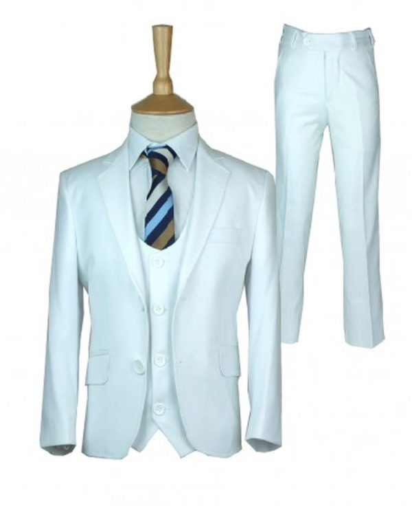 cefai White Communion Suit